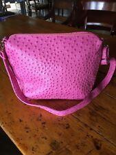 Vintage Pink ostrich leather handbag