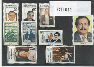 "1974 - 2010 TURKISH CYPRUS ZYPERN CHYPRE CIPRO "" FAMOUS PEOPLE "" MNH"