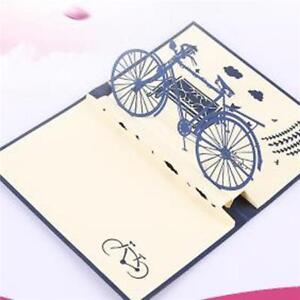 3D Cards Handmade Sports Bicycle Bike Happy Birthday Christmas Greeting Card LB