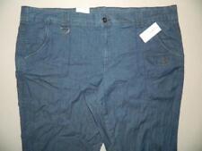 WP9839 Style&co. Women's Plus Chambray Mid Rise Capri Pants NWT Size 24W X 20