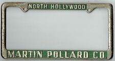 North Hollywood California Martin Pollard Chevrolet Vintage License Plate Frame