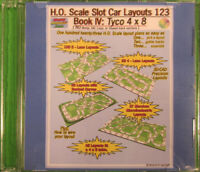 HO Scale Slot Car Track Layouts 123 Book IV: Tyco 4x8 (PDF on DVD)