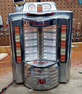 AMI WALLBOX JUKEBOX MODEL W-80 RESTORED - STOCK # 5619