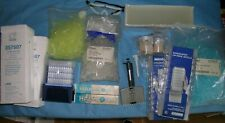 Assorted Lab Bench Leftover Multichannel Pipette Tips Glass Tubes Pipettes