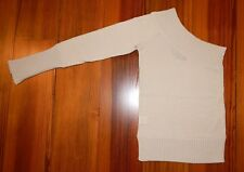 BCBG MAXAZRIA One Shoulder Fitted Knit Sweater Top Size XS