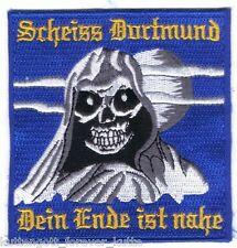 "Anti Dortmund Aufnäher ""..dein Ende."" Kutte Weste Fan Patch Block Kurve + neu +"