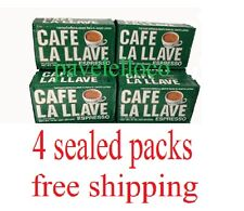 cafe la llave espresso Cuban coffee ground,cafe cubano 4 bricks Of 10oz each