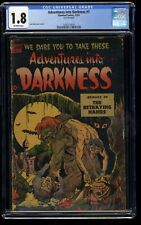 Adventures into Darkness #7 CGC GD- 1.8 Off White
