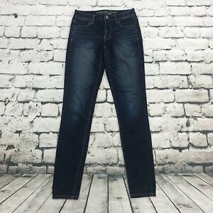 American Eagle AEO Women's Jeans Hi-Rise Jegging Dark Wash Size 4 Long