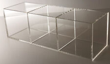 Acrylic Tray w 3 compartments Large Open Tray Display Case Organizer Sectional