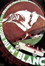 Mt Blanc-Chamonix Autocars-Viajes Vacaciones A3 Art Poster Print