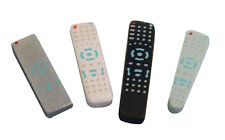 Dolls House Miniature 1/12th Scale Set of 4 Assorted TV/Hifi Remote Controls