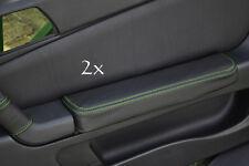 Se adapta a Alfa Romeo Gtv Cuero 2x Puerta Apoyabrazos cubre Verde