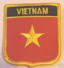 VIETNAM FLAG WORLD EMBROIDERED PATCH BADGE