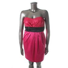 Ruby Rox Pink Sequined Strapless Party Semi-Formal Dress 16 - NEW