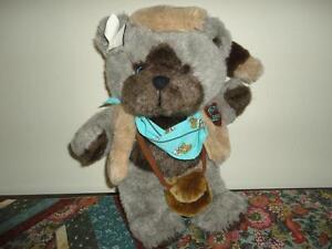 Vintage 1986 Emotions Mattel FRONTIER BEAR Raccoon Tail hat