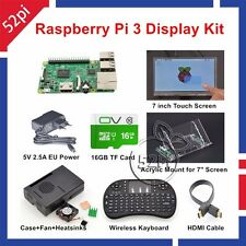 """Raspberry Pi 3 16GB Starter Display Kit with 7"""" 1024*600 Touch Screen"""