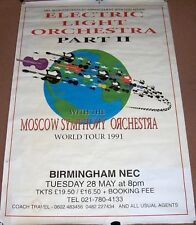 ELO PT II SUPERB CONCERT POSTER TUESDAY 28th MAY 1991 N.E.C. ARENA BIRMINGHAM