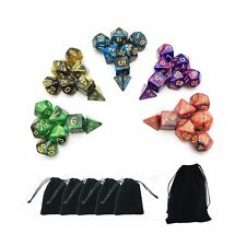 5 x 7-Die Series Two Colors Dungeons and Dragons DND RPG MTG Table Games Dice