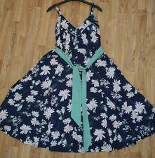 Joe Browns navy Pretty Floral daisy summer midi Dress Size 14