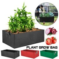 Fabric Raised Garden Bed Grow Bags Flower Vegetable Planter Pot Pocket Pouch