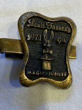 Louis J. Tannen 1971 Magic Jubilee Tie Clip