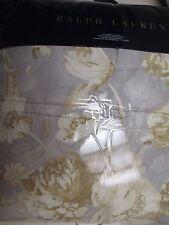 New RALPH LAUREN Hathersage Gray Gold Cream Floral Comforter - Full/Queen