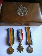 Trio of WW1 Medals - CPL J.C. Carney, Army Service Corps - with lovely ASC Box