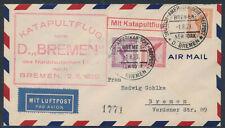 Katapultpost Schleuderflug 2.8.1929 deutsche Seepost nach Bremen (S16678)