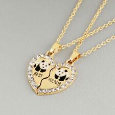 Best Friends Friendship Necklace Chain Heart Panda 2 Pcs Girls Jewelery New