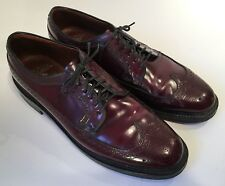 VTG Crown Windsor By Bostonian Cordovan Wing Tip Oxfords Mens 10 1/2 C/A Narrow