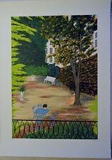 FANCH LEDAN LITHOGRAPH LE JARDIN D'ELISA ARTIST PROOF 13/30 SIGNED W/COA RARE!