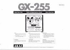 Akai  Bedienungsanleitung user manual owners manual  für GX-255