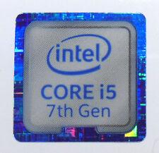 10 x Intel Core i5 7th Gen blue18mm x18mm Metallic Stickers 7 vinyl xp 8 Windows