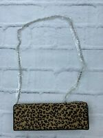 NEW ALDO Women's Camouflage Clutch With Silver Chain Sling Hand Bag OS Brown