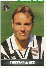 092 KINGSLEY BLACK ENGLAND GRIMSBY TOWN.FC STICKER 1ST DIVISION 1997 PANINI
