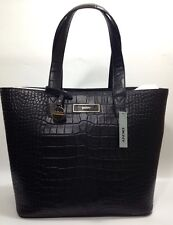 DKNY Donna Karan Black Leather Croc Embossed Shoulder Hand Bag RRP £375.00