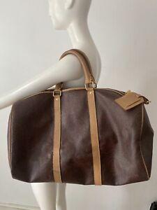 Etro Signatur Paisley Print Zipped Leather Trim Holdall Weekend Travel Bag