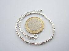 bracciale uomo unisex argento 925 maglia cubetti  lungo da 17 cm a 20 cm italy