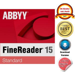ABBYY FineReader 15 Standard Upgrade   ESD sofort Download   BLITZVERSAND ✅ DE