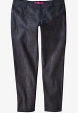 New Pure Energy Goth Black & Gray Faux Snake Skin Print Stretch Jeans Sz 18