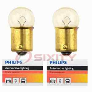 2 pc Philips License Plate Light Bulbs for Chrysler 300 Conquest Imperial yh
