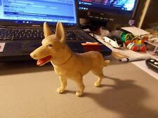 VINTAGE PLASTIC DOG RIN TIN TIN? 7 INCHES LONG AND 5 INCHES TALL JAPAN