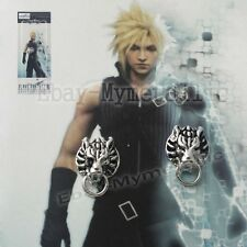 Final Fantasy VII Cloud Strife Wolf Head Metal Earrings Clip-ons ONE PAIR NIB