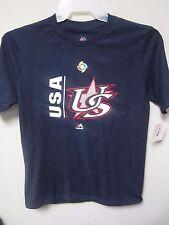 Majestic 2017 USA World Baseball Classic Navy Youth T-Shirt Size XL (18)