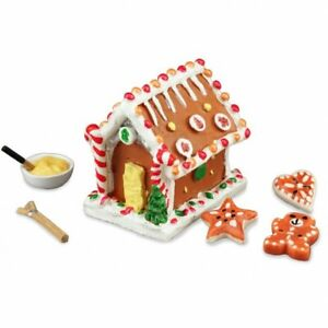 Dollhouse Miniature Reutter Christmas Gingerbread House with Makings 1.885/6
