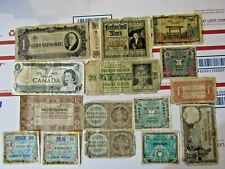 Lot of 16 Different Vintage Foreign World Currency Paper Money Bank Notes Bills