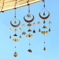 Brass Wind Chime Crescent Moon Bells Amazing Decoration Outdoor Garden Gift