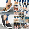 Women Flat Shoes Slip On Low Heel Platform Casual Pumps Comfy Sneakers Trainers