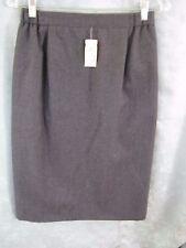 80's Liz Claiborne Lined Wool Career Skirt Size 12 NWT Back Zip Side Elastic